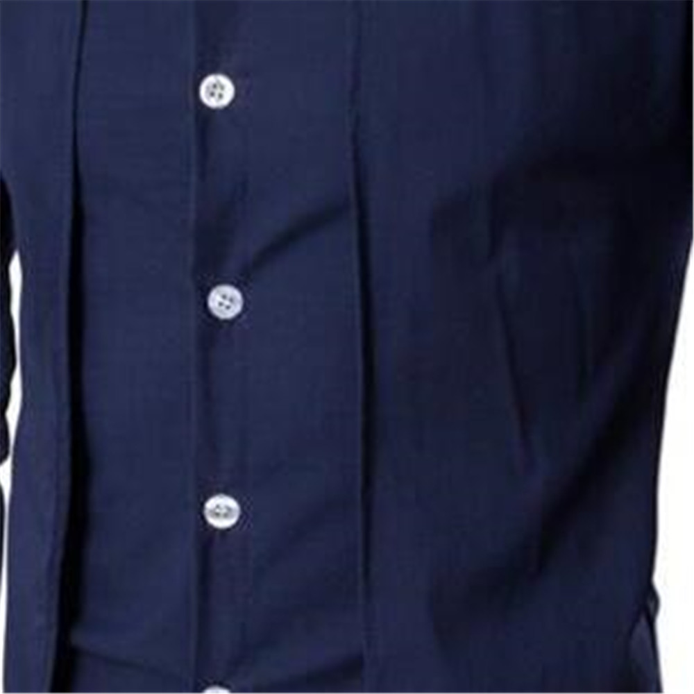 Image 5 - Elegant Man Blue Shirt Gentleman Dinner Party Shirts Long Sleeve Novelty Placket Male Blouse Tide Streetwear 2019 New Boy Tops-in Tuxedo Shirts from Men's Clothing