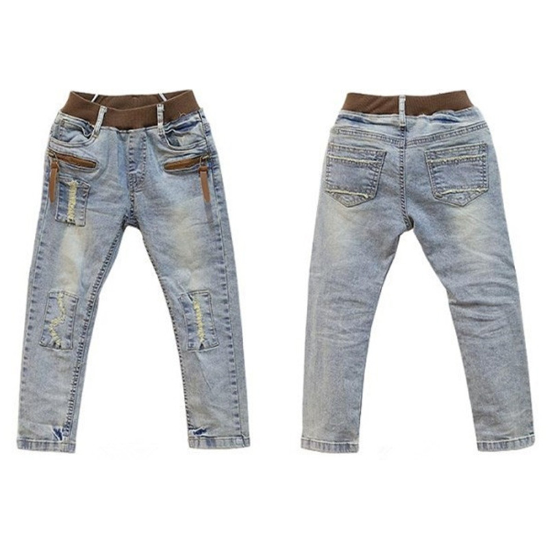 6c5eadfcdd7d00 Ripped jeans voor kids peuter jeans baby jongens ripped denim jeans  kinderen mode jeans voor jongens casual denim broek voor 3 12Y in Ripped  jeans voor kids ...