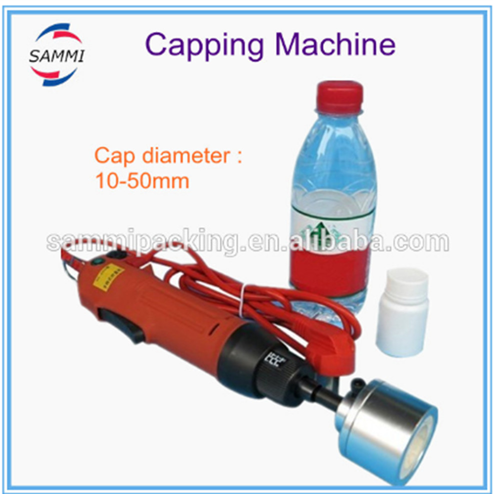 Free Shipping SG-1550 Quality Hand Held Screw Capper Plastic Bottle Cap Sealer Screw Capping Machine