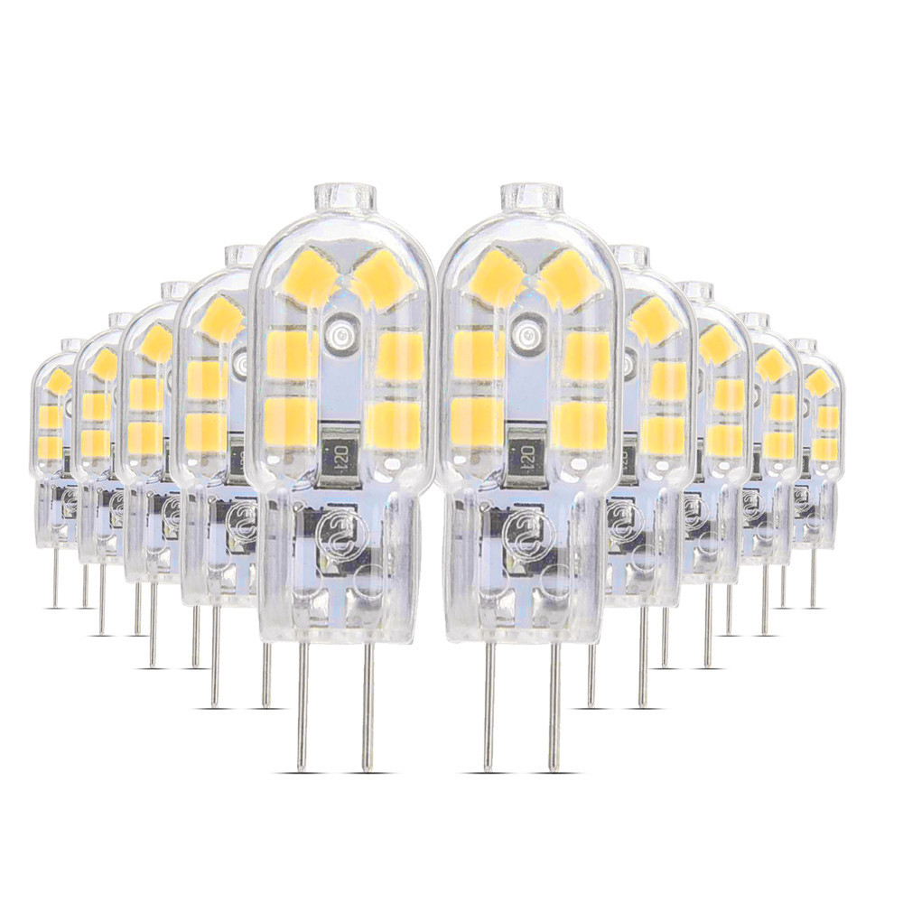 YWXLight <font><b>10</b></font>/<font><b>PCS</b></font> Mini <font><b>G4</b></font> LED SMD2835 Silicone Bulb AC 12V/AC 220V/DC 12V/DC 24V 2W 3W 4W LED Bulb Spotlight Replace Halogen Light image