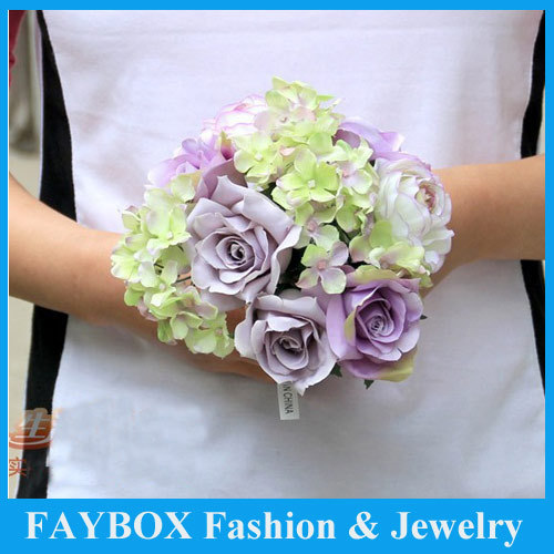 10 heads Small Bunch Artificial flower Camellia Rose Romantic pink ...