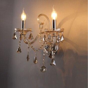 Kristal mum duvar lambası led okuma ışığı duvara monte banyo ışık duvar aplik led okuma ışığı duvara monte yatak odası duvar lambaları