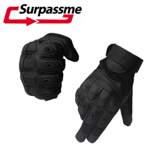 Touch Screen Hard Knuckle Full Finger Leather Motorcycle Gloves Motocross Moto Motorbike Racing Riding Biker Protective Gear ATV цена