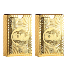 Waterproof Plastic Playing Card Golden Sliver style gift creative game cards advertising durable PVC poker cards 2Packs