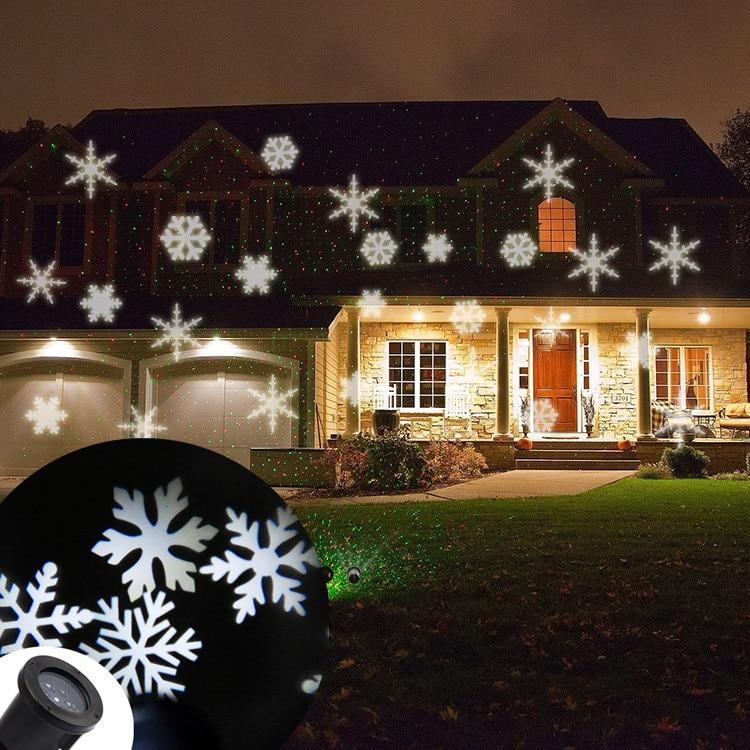 Snowflakes LED Projection Spot Light Sparkling LED ...