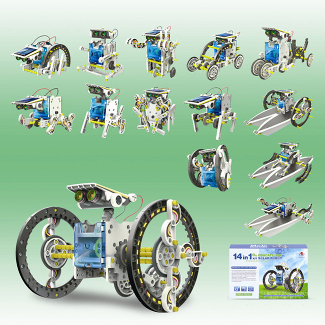 The solar robot------Science and education experimental children's toys puzzle model