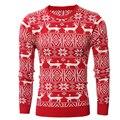 Горячий Продавать! мужские Свитера Оленей Шаблон Мода Стиль Solid Color мужские Пуловеры О-Образным Вырезом Мужская Одежда 2016 Осень Недавно H7718