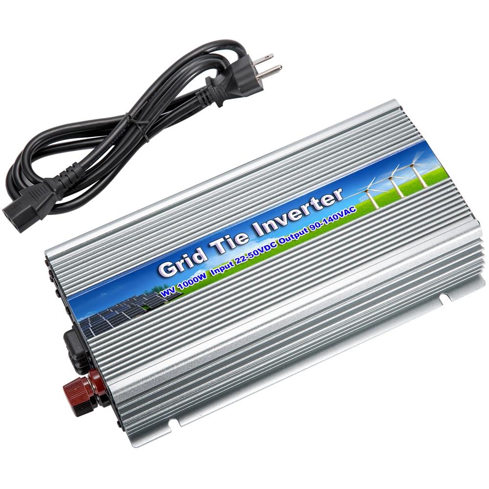 цена на MAYLAR@ 20-50Vdc 1000W Solar Pure Sine Wave Grid Tie MPPT Inverter Output 90-140V 50hz/60hz For Alternative Energy Home System