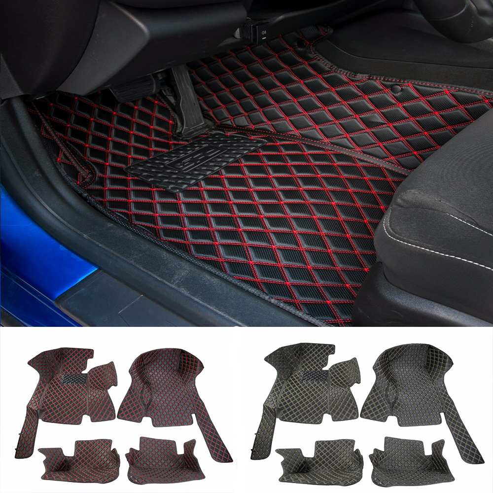 MOPAI Leather Car Floor Mats Carpets Foot Pads Interior Decoration Accessories For Chevrolet Camaro 2017 Up Car Styling for mazda cx 5 cx5 2nd gen 2017 2018 interior custom car styling waterproof full set trunk cargo liner mats tray protector