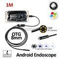 2MP 8mm Cámara HD720P Android OTG USB Endoscopio 1 M USB Serpiente Flexible USB Teléfono Android Impermeable Boroscopio Inspección cámara