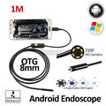 2MP 8mm HD720P Android OTG USB Endoscope 1M USB Camera Flexible Snake USB Android Phone Waterproof Inspection Borescope Camera
