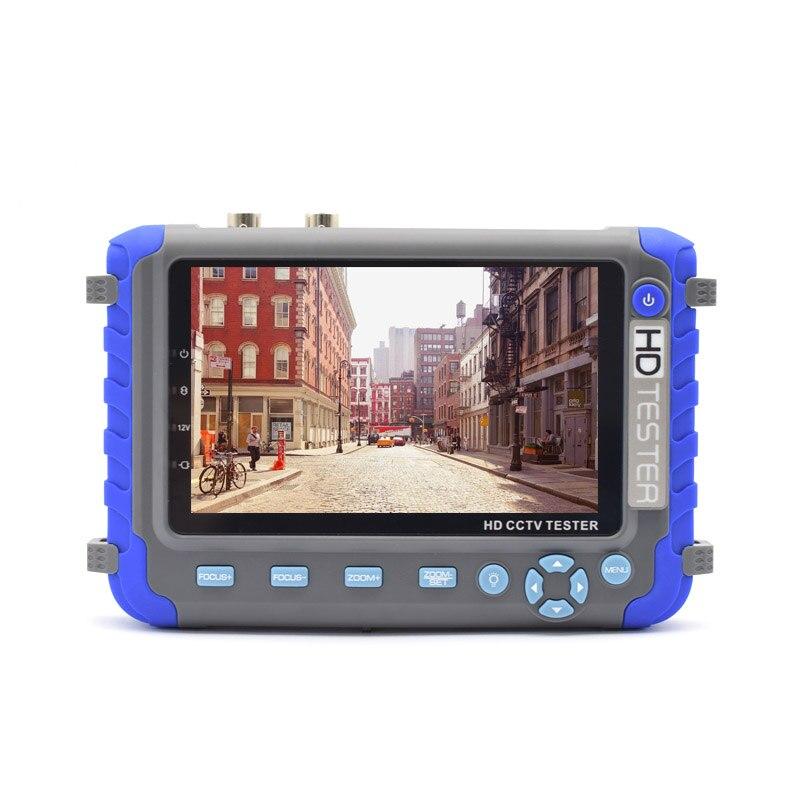 New AHD Camera tester 5 Inch TFT LCD 1080P / 5MP 4 IN 1 TVI AHD CVI Analog CCTV Tester Security Surveillance Analog camera