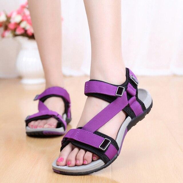 New Women's Vietnam Sandals 2017 Summer Hot sale Candy Flat Beach Sandals Slippers Women Summer shoes feminine sandalias US 9