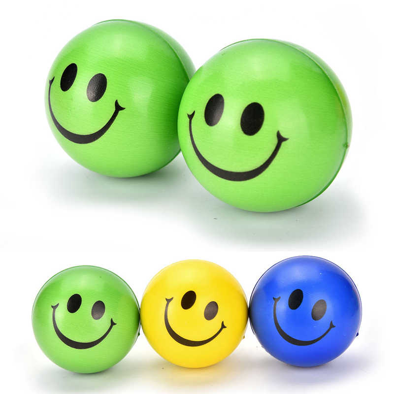 1PCS CUTE Smile Face Anti Stress Reliever Ball For Kids Autism Mood Toys Squeeze Relief For Children Balls Toy