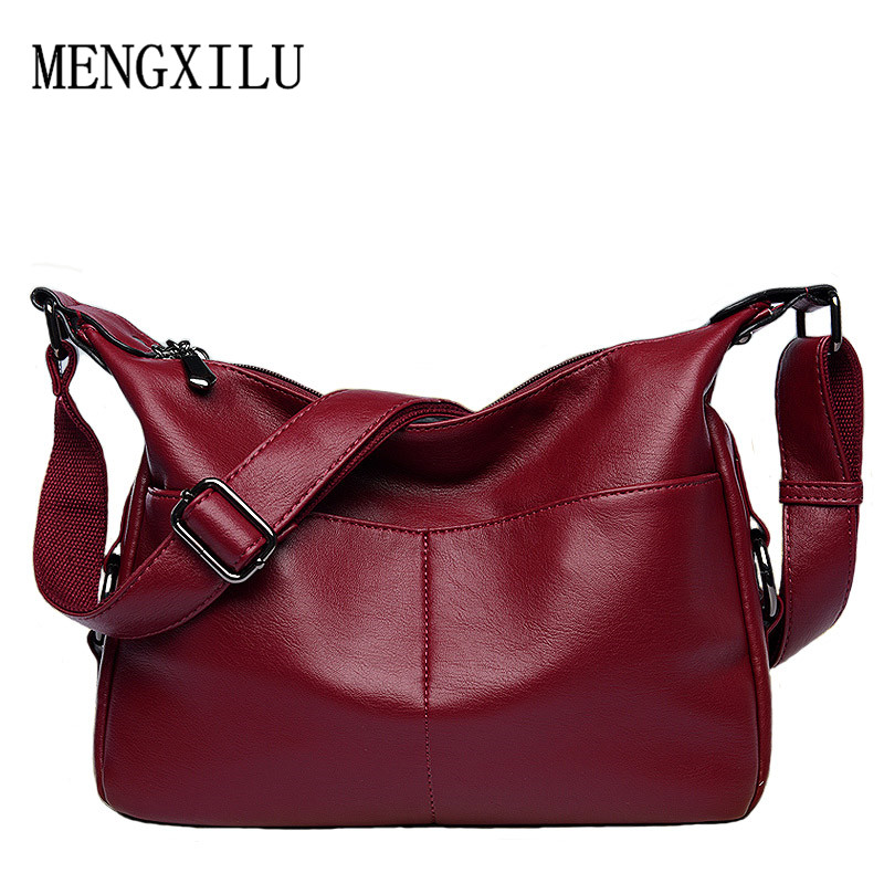 women leather handbag female casual totes ladies shoulder bag design zipper pu hobos women bag messenger bags bolsa feminina цены