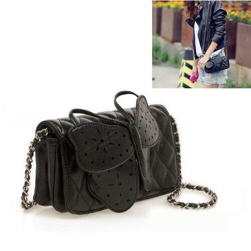Womens Butterfly font b Clutch b font ChaIn Purse Handbag Shoulder Bag Evening font b Party