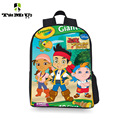 New fashion 3D cartoon Jake Pirate Primary school students bookbag kids backpack for girl boy school bag unisex 12 inch
