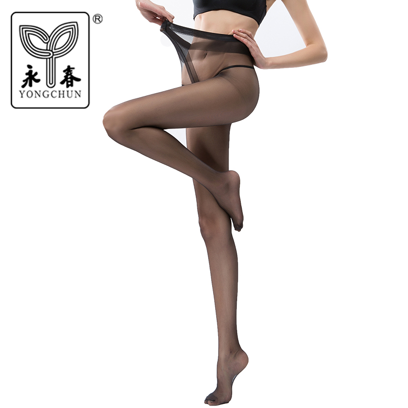 YONGCHUN Stockings pantyhose 5dt T-crotch black sexy fashion tiptoe transparent Core-spun Yarn pantyhose 6247l t