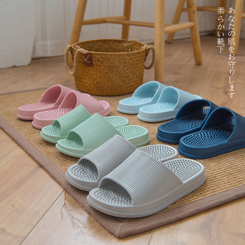 New massage home slippers shoes women couples household slides Simple zapatos mujer casual Sandals bathroom room shoes slipper
