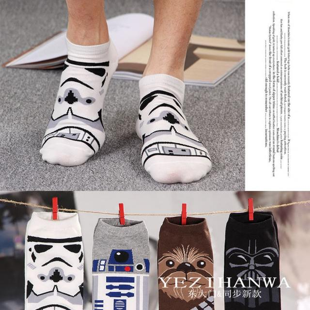 Star Wars Knight Men Sock sox cotton boat pop summer fun cool novelty black compression loafer socks chaussettes homme fantaisie