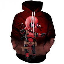 YOUTHUP 2019 New Mens 3D Hoodies Sweet Baby Deadpool Print Sweatshirts Pullovers Long Sleeve Male Full pullovers