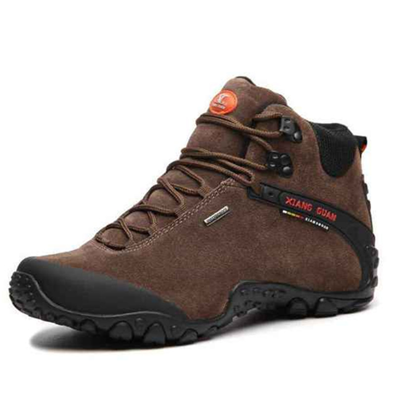 New XIANG GUAN Mens Sports Outdoor Hiking Trekking Shoes Sneakers For Men Sport High Top Climbing Mountain Shoes Man Senderismo