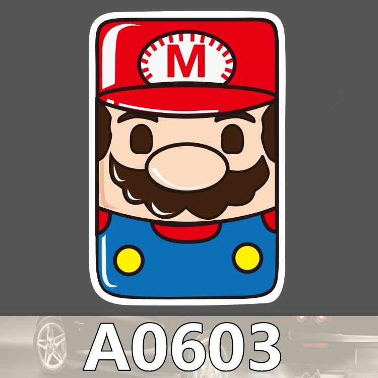 Bevle a0603 Супер Марио карты Водонепроницаемый Стикеры для автомобилей ноутбука Чемодан скейтборд с рисунком граффити Тетрадь Наклейки