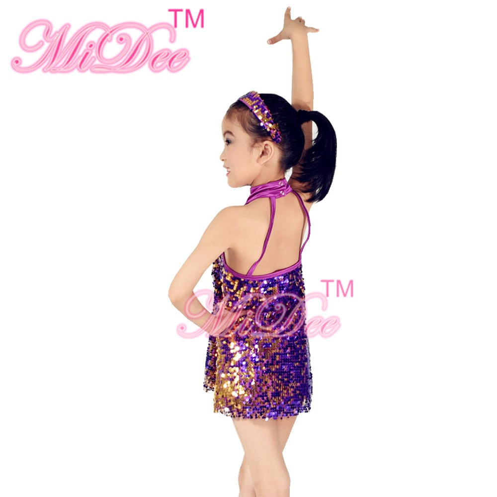121767a939cc MiDee Full Sequins Dance Dresses Jazz Costume Solo Dance Competition ...