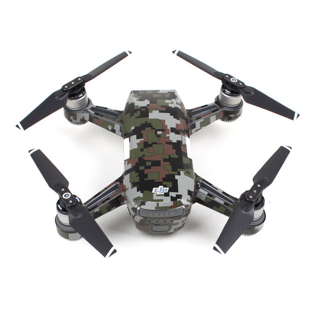 Waterproof Camouflage Graphic Camera Drone Decals For DJI SPARK Body Battery Arm