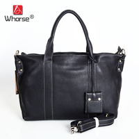 Top Quality Casual Tote High Capacity Real Cowhide Unisex Men And Women Handbag Big Shopping Crossbody Messenger Bag W092675