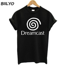 New Dreamcast Sega Logo Short Sleeve Women Black T-Shirt Size S To XL T shirt(China)