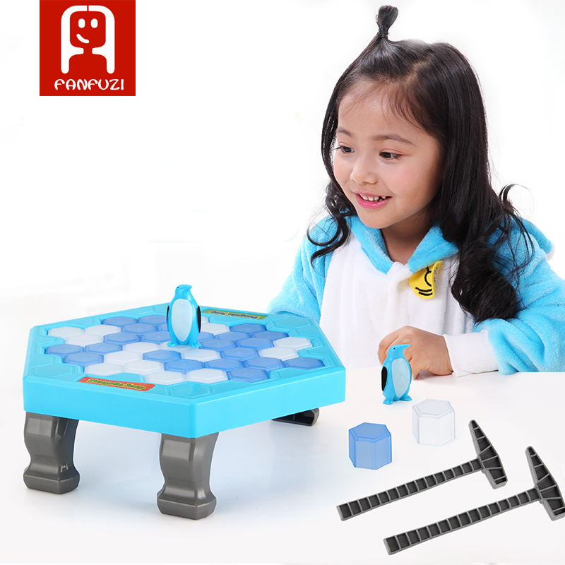 Ice Breaking Save The Penguin Great Family Fun Game Knock Ice Block Wall educational toys,Chinese Or English 2 Styles for choose