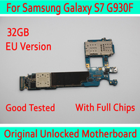100% Original unlocked for Samsung Galaxy S7 G930F Motherboard,for Galaxy S7 G930F Mainboard 32gb with Android System,EU Version