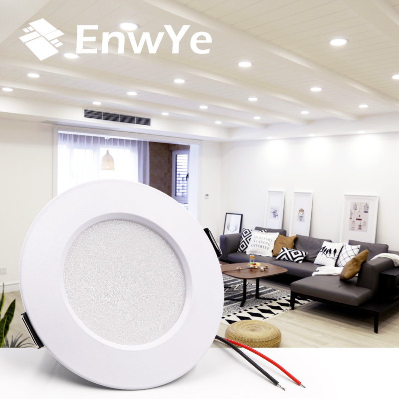EnwYe LED Downlight Ceiling 5W 9W 12W 15W Warm white/cold white led light AC 220V 230V 240V(China)