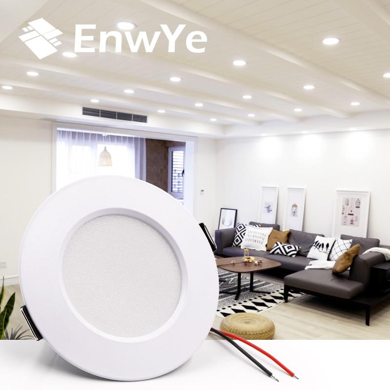 EnwYe LED Downlight Ceiling 5W 7W 9W 12W 15W Warm White/cold White Led Light AC 220V 230V 240V