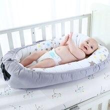 Berço portátil para recém nascidos cama do bebê dobrável viagem cama para infantil com pára choques biônico berço colchão