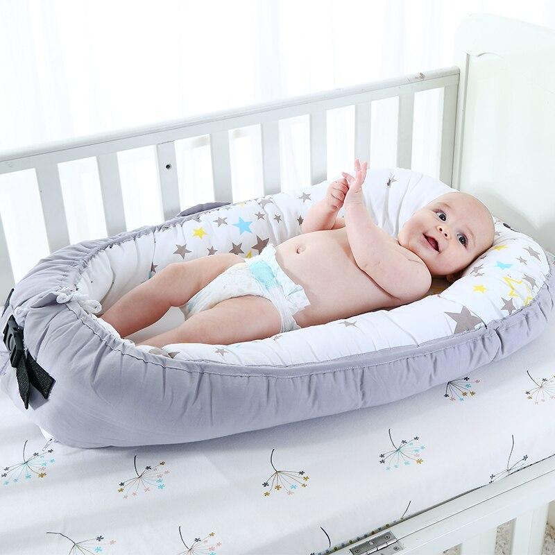 Lit de bébé Portable pour les nouveau-nés lit de voyage pliable pour bébé avec pare-chocs matelas de lit Bionic