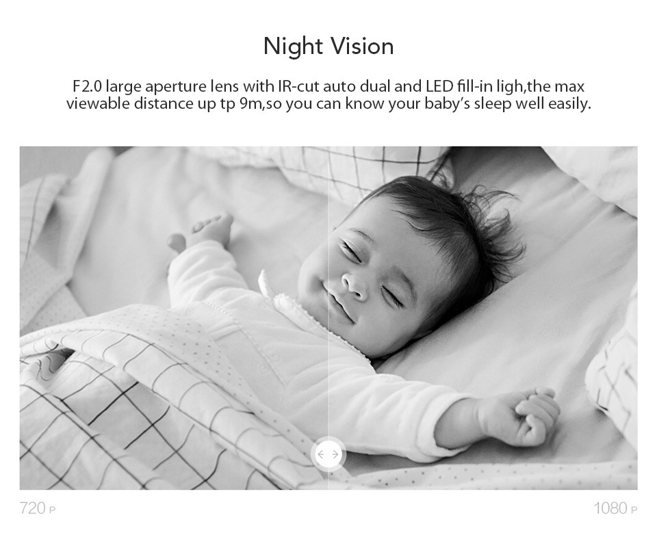 Original Xiaomi CCTV Mijia Xiaofang 110 Degree F2.0 8X 1080P Digital Zoom Smart Camera IP WIFI Wireless Camaras Cam Night Vision (3)