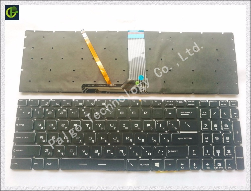 Russian Backlit Keyboard for MSI GT72S PE70 GT62VR GT73VR GP60VR GP62VR GL627RDX RU v143422fk1 S1N-3ERU2T1-SA0 with backlit laptop keyboard for msi ge60 v123322ck1 ti s1n 3eth261 sa0 tr s1n 3etr2a1 sa0 it v123322ik1 v139922ck1 uk hb s1n 3ehb2h1 sa0 ui