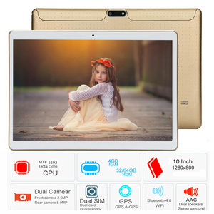 Free shipping 10.1 Inch Tablet pc Android 6.0 Octa Core 4GB RAM 64GB ROM Duall SIM WiFi FM IPS Phone Call 3G GPS Tablets+gifts