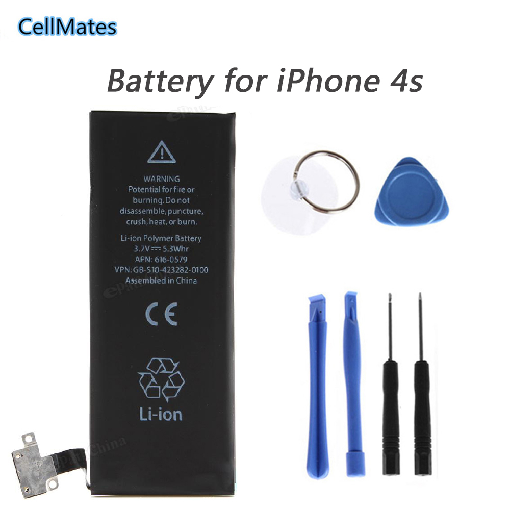 New 1430mAh internal replacement 3.7V Li-ion battery for iPhone 4S GSM/CDMA + Free Tools