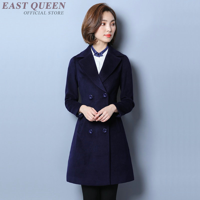 Women autumn blazer long office ladies formal clothing blazer tops solid bodycon full sl ...