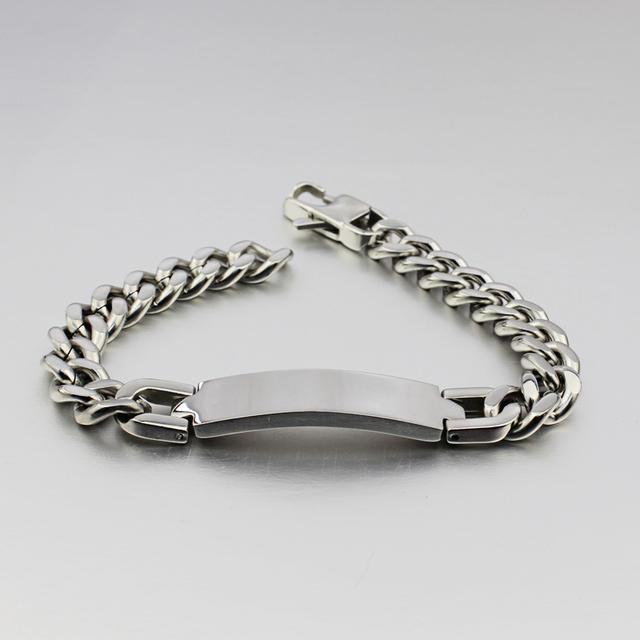 Stainless Steel ID Bracelet & bangle