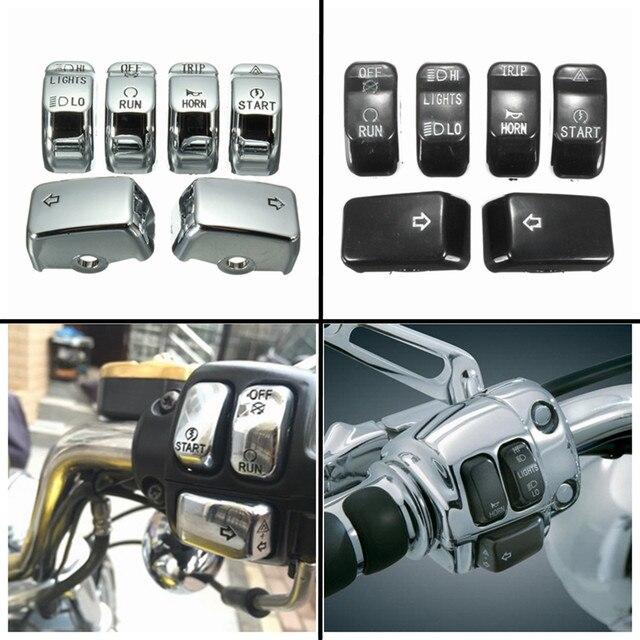Переключатель управления для мотоцикла, крышка кнопки, комплект для Harley Dyna Softail XL, аксессуары для мотоциклов
