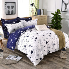 3/4pcs/Set AB Side Star White Blue Comforter Bedding Sets Space Bed Sheet Duvet Cover Set Pillowcases Bed Linen Home Textile(China)