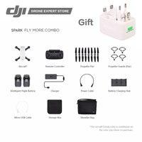 DJI Spark Drone Fly More Combo Portable Quadcopter Gesture Control WiFi FPV 1080p Video Recording 12MP Camera Remote Controller