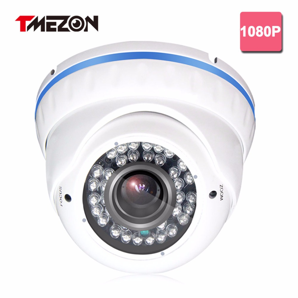 Tmezon HD AHD 1080P Camera 2.0MP CCTV Security Surveillance System 2.8-12mm Zoom Lens Indoor Home Dome Watherproof Cam cctv surveillance ahd security 1080p 2 0mp hd dome camera system night vision 3 6mm lens cctv camera 24leds ircut for ahd dvr