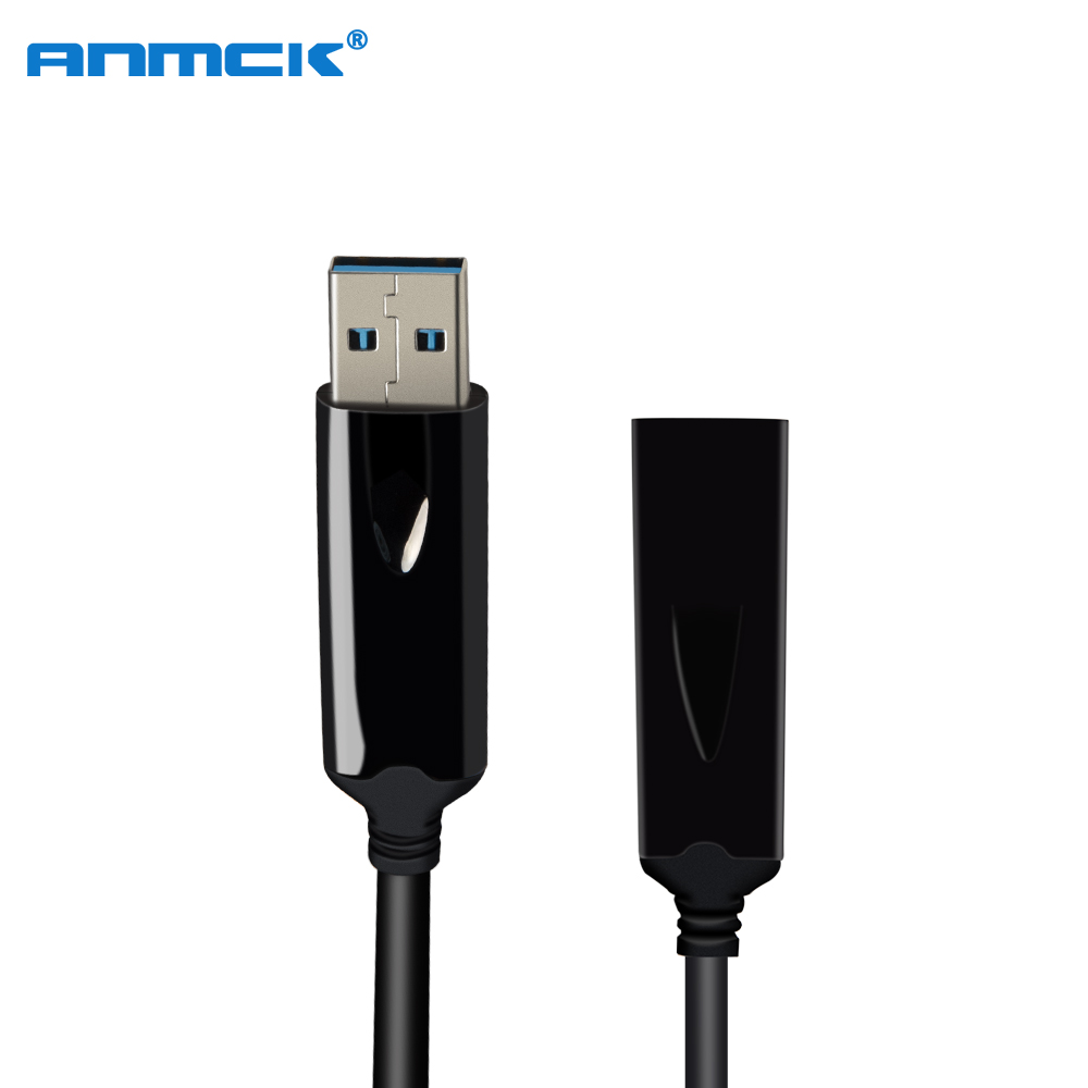 Anmck Optical Fiber USB 3.0 Extension Data Cable Male To Female Mini USB Extender Cord 1M 3M 5M 10M 20M 30M 40M For Laptop PC