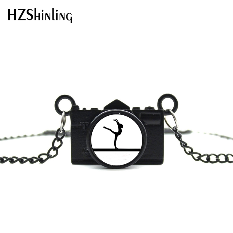 2017 New Arrived DIY Gymnastics Camera Neklace Competition Item Camera Jewelry Black Camera Pendant NCA-011