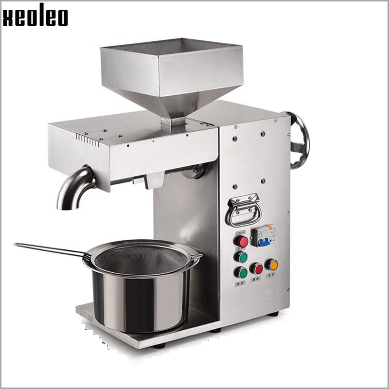 Xeoleo Commercial Oil press machine Stainless steel Oil presser for sesame/Melon seeds/Rapeseed/flax/walnut Olives oil presser stainless steel cocoa seeds peeling machine for sale